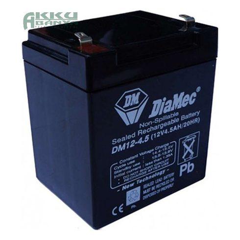 DIAMEC 12V 4,5Ah akkumulátor DM12-4.5