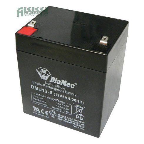 DIAMEC 12V 5Ah akkumulátor DM12-5