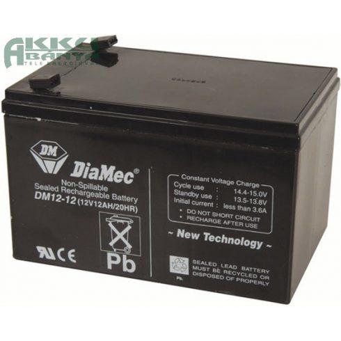 DIAMEC 12V 12Ah akkumulátor DM12-12