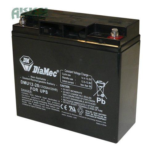 DIAMEC 12V 20Ah akkumulátor DM12-20