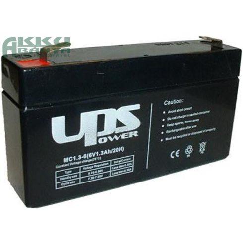UPS POWER 6V 1,3Ah akkumulátor MC1,3-6