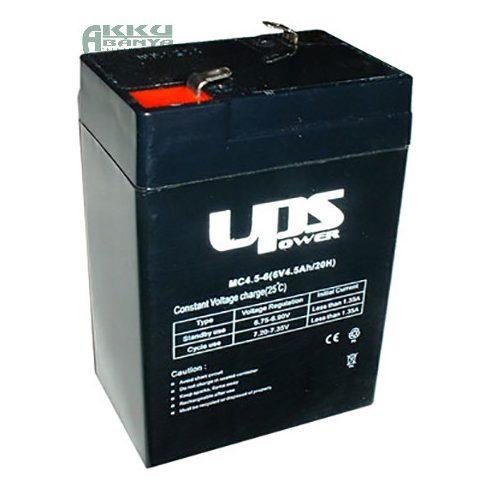UPS POWER 6V 4,5Ah akkumulátor MC4,5-6