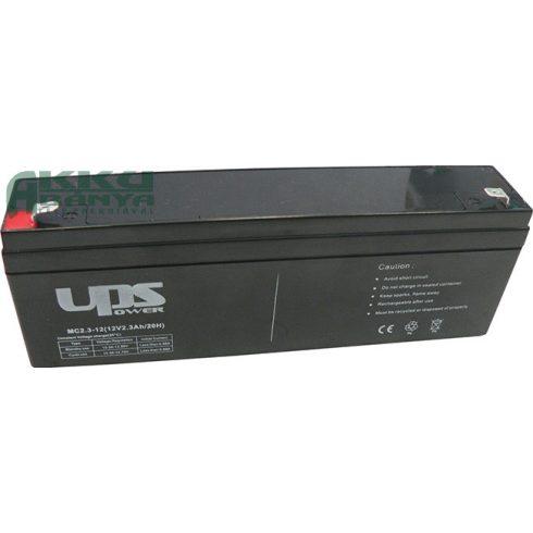 UPS POWER 12V 2,2Ah akkumulátor MC2,2-12