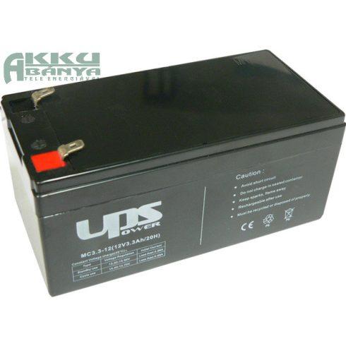 UPS 12V 3,3Ah akkumulátor