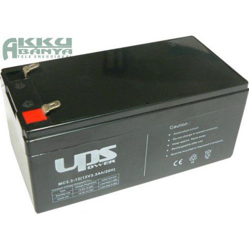 UPS POWER 12V 3,3Ah akkumulátor MC3,3-12