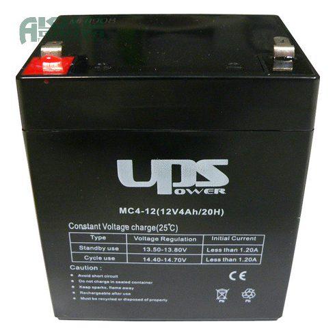 UPS POWER 12V 4Ah akkumulátor MC4-12