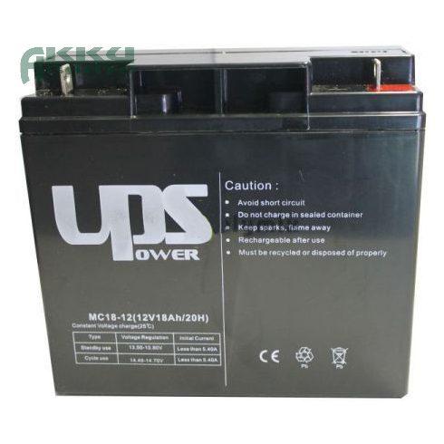 UPS POWER 12V 18Ah akkumulátor MC18-12