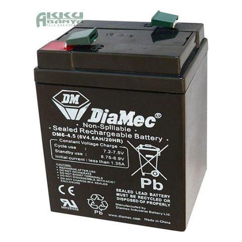 DIAMEC 6V 4,5Ah akkumulátor DM6-4.5