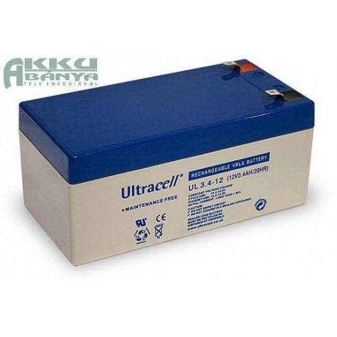 ULTRACELL 12V 3,4Ah akkumulátor UL3.4-12 AU-12034