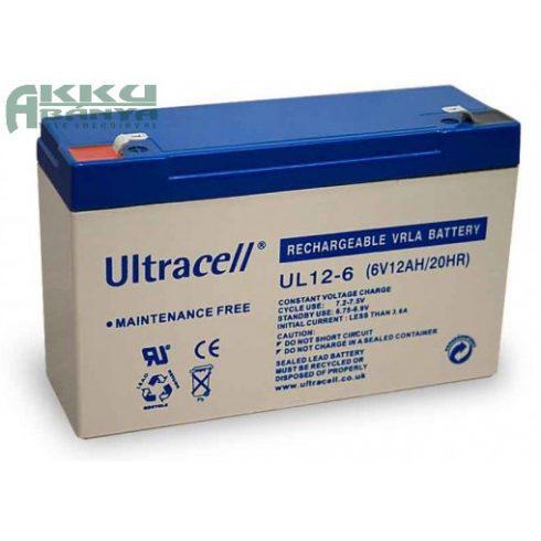 ULTRACELL 6V 12Ah akkumulátor UL12-6 AU-06120