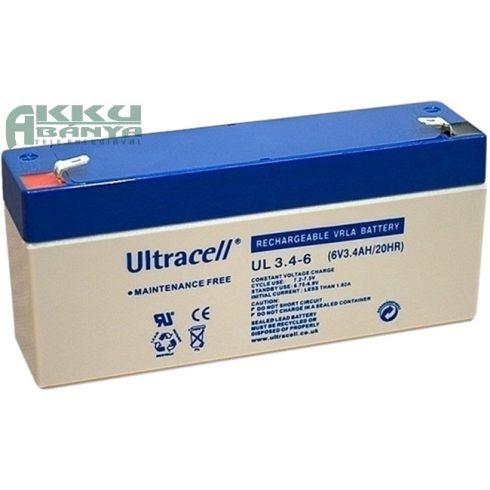 ULTRACELL 6V 3,4 Ah akkumulátor
