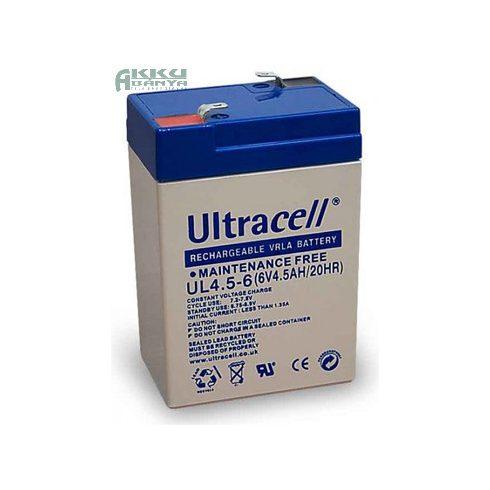 ULTRACELL 6V 4,5Ah akkumulátor UL4.5-6 AU-06045