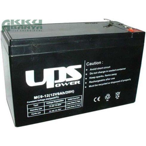 UPS POWER 12V 9Ah F2 akkumulátor MC9-12