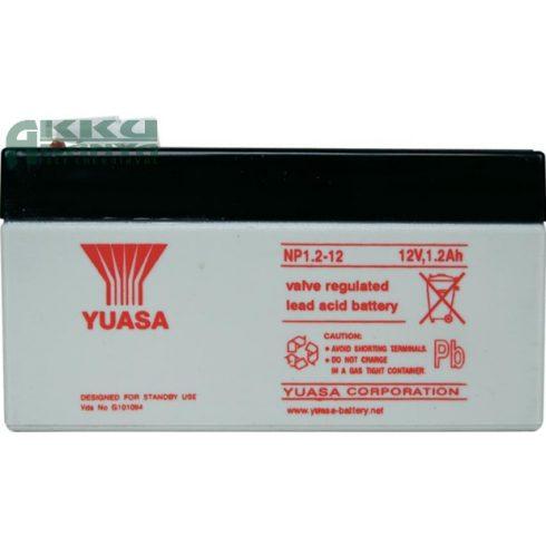 YUASA 12V 1,2Ah akkumulátor NP1.2-12