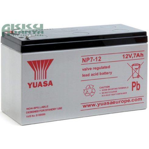 YUASA 12V 7Ah akkumulátor NP7-12