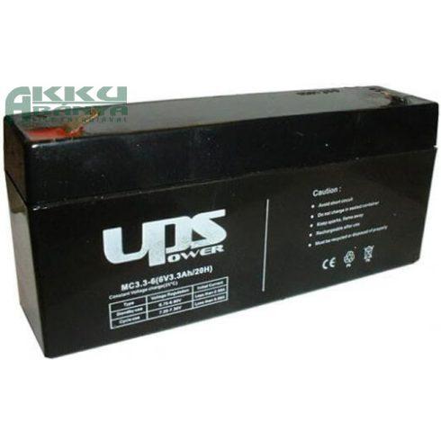 UPS POWER 6V 3,3Ah akkumulátor MC3,3-6