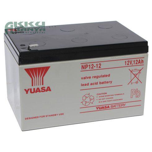 YUASA 12V 12Ah akkumulátor NP12-12