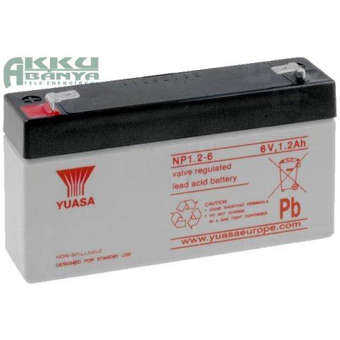 YUASA 6V 1,2Ah akkumulátor NP1.2-6