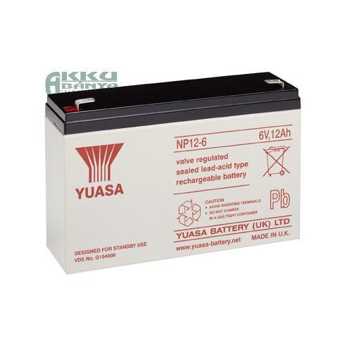 YUASA 6V 12Ah akkumulátor NP12-6