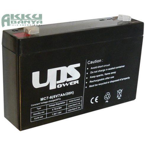 UPS POWER 6V 7Ah akkumulátor MC7-6