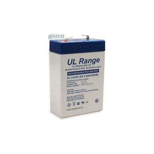 ULTRACELL 6V 2,8Ah akkumulátor UL2.8-6 AU-06028