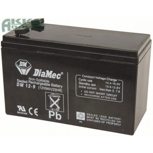 DIAMEC 12V 9Ah F2 akkumulátor DM12-9