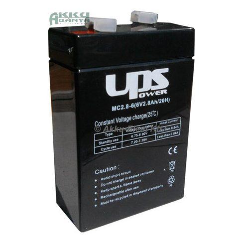 UPS POWER 6V 2,8Ah akkumulátor MC2,8-6