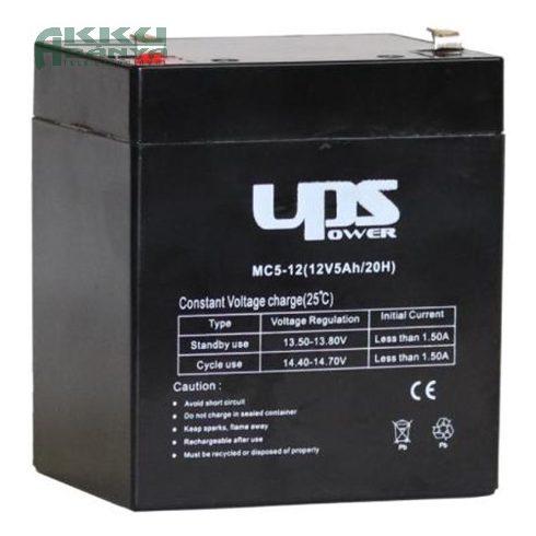 UPS POWER 12V 5Ah akkumulátor MC5-12