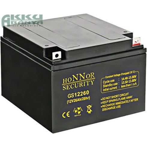 HONNOR 12V 26Ah akkumulátor GS12260