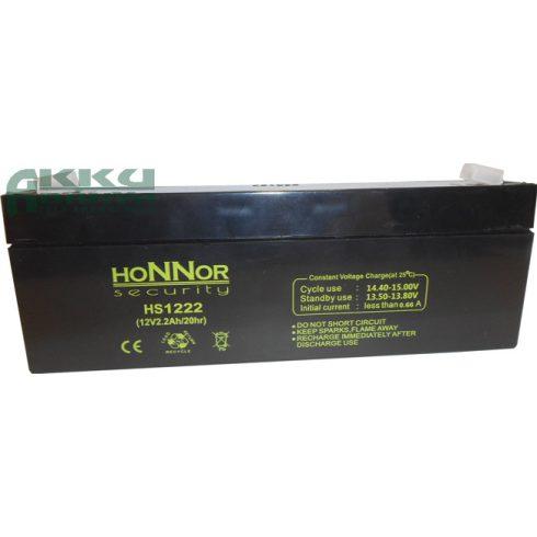HONNOR 12V 2,2Ah akkumulátor HS1222