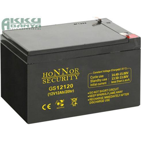HONNOR 12V 12Ah akkumulátor GS12120