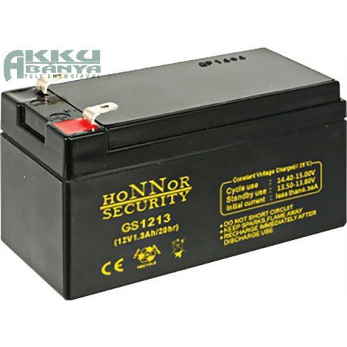 HONNOR 12V 1,3Ah akkumulátor GS1213