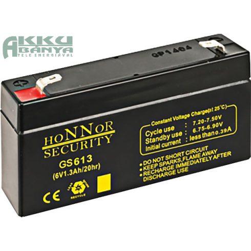 HONNOR 6V 1,3Ah akkumulátor GS613