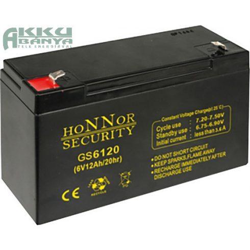 HONNOR 6V 12Ah akkumulátor GS6120