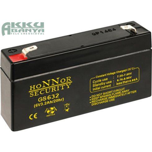 HONNOR 6V 3,2Ah akkumulátor GS632