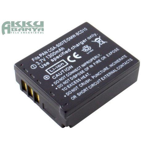 Panasonic CGA-S007 akkumulátor 1300mAh utángyártott