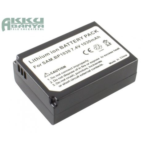 Samsung BP1030 akkumulátor 1030mAh, utángyártott