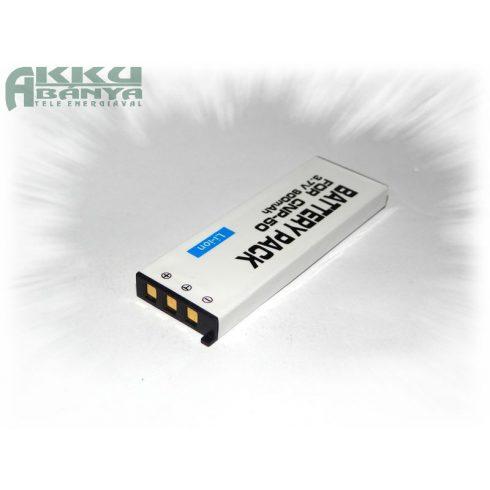 Casio NP-50, 900 mAh, 3,7 V akkumulátor (Utángyártott)
