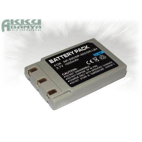 Konica NP-600, 1000 mah, 3,7 V akkumulátor (Utángyártott)