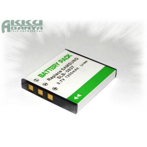 Samsung SLB-0837, 1200 mah, 3,7 V akkumulátor (Utángyártott)